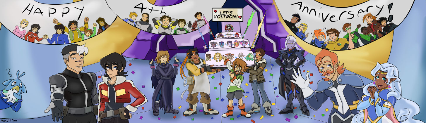 Happy 4th Let's Voltron Anniversary (animated!)