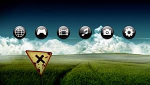 Sfere Black PSP Theme by javierocasio