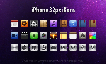 iPhone 32px iKons