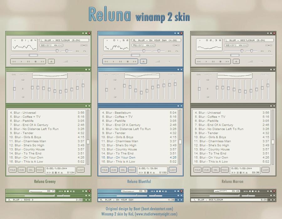 Reluna winamp 2 skin