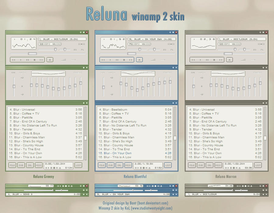 Reluna winamp 2 skin by javierocasio