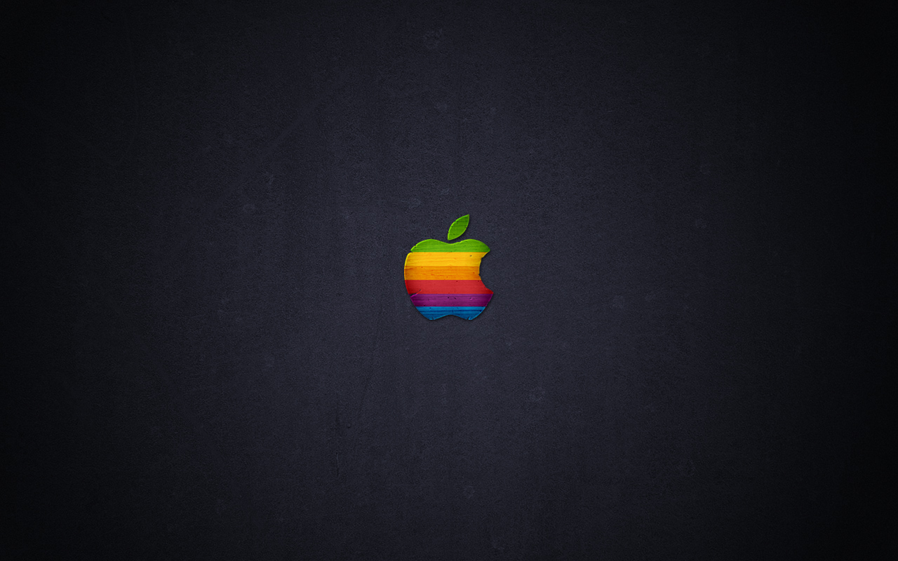 Wood Retro Apple by javierocasio
