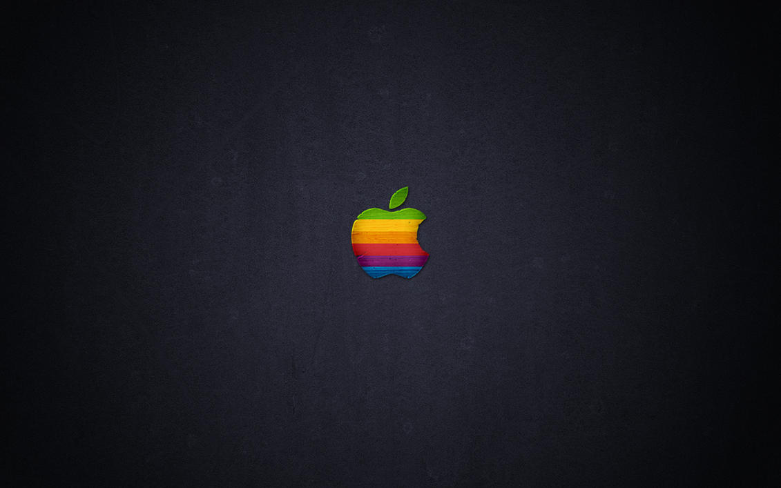 Wood Retro Apple By Javierocasio