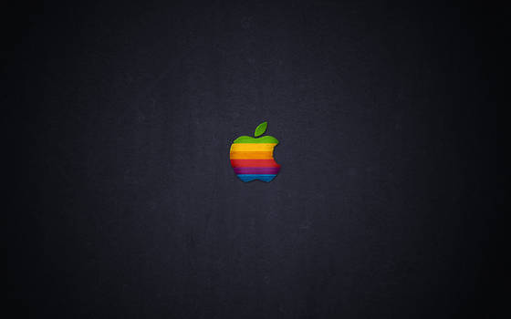 Wood Retro Apple