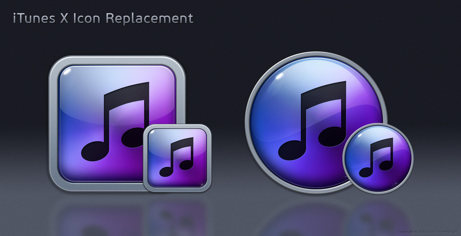 iTunes X Icon Replacement by javierocasio