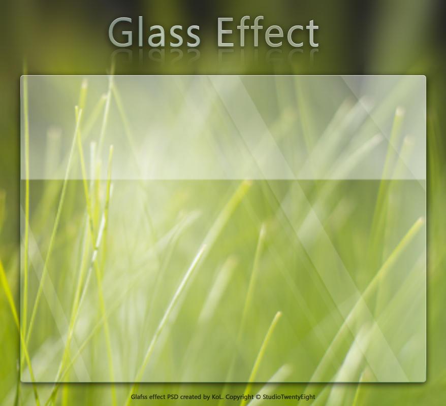 Glass Effect by javierocasio