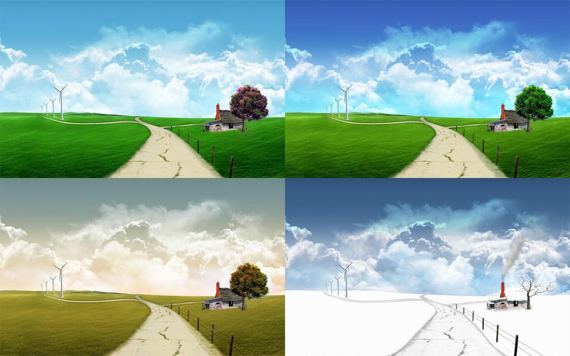 Seasons - One monitor version by javierocasio