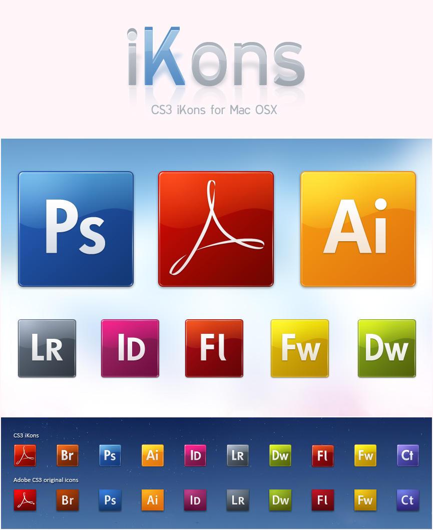 CS3 iKons - Mac by javierocasio