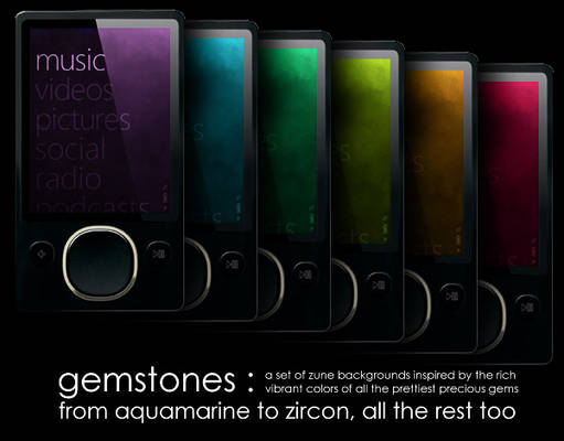 Zune Backgrounds: Gemstones