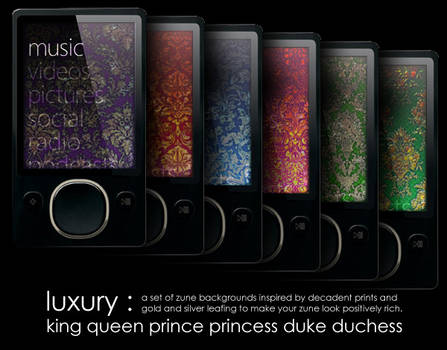 Zune Backgrounds: Luxury