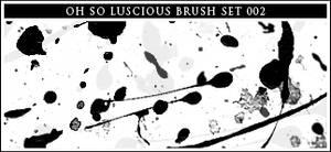 002 acrylic paint splatters