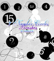 Number Circles brushes by anamcr