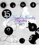 Number Circles brushes