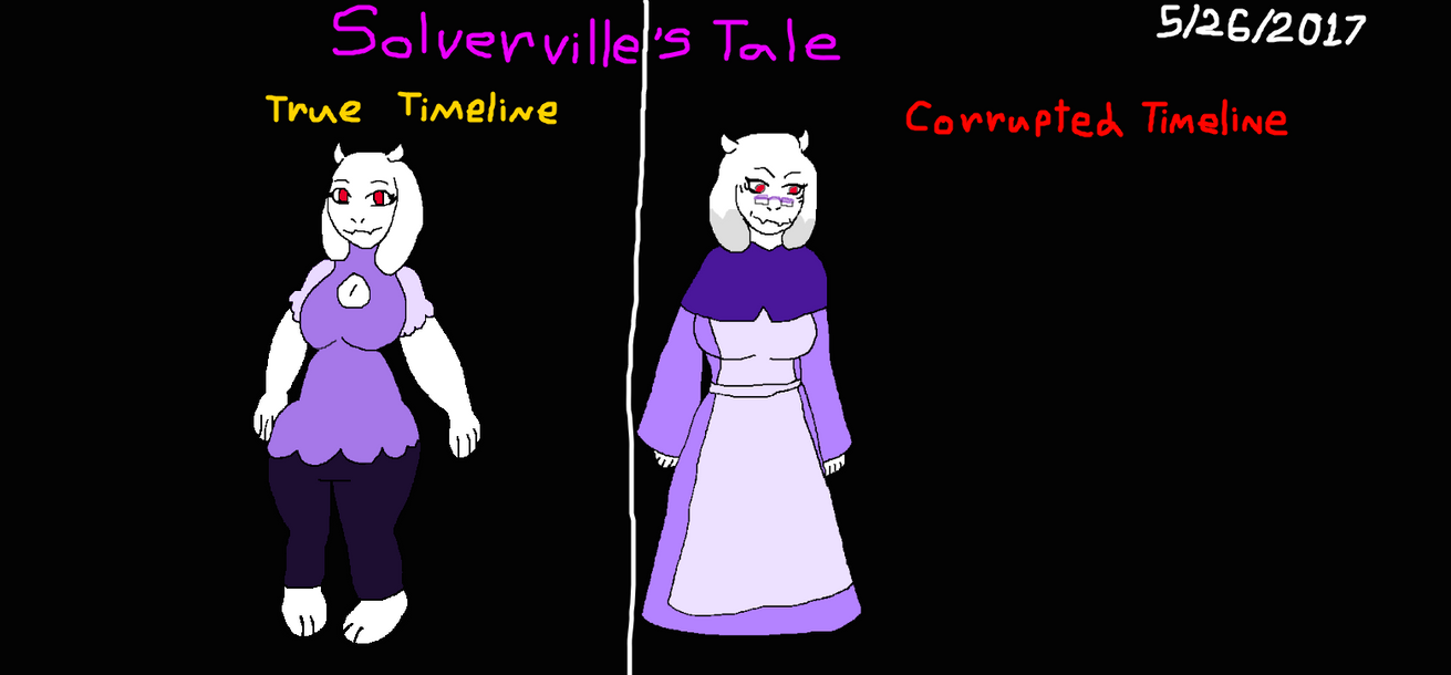 Solverville's Tale: True And Corrupted Toriels by Elzathehedgehog