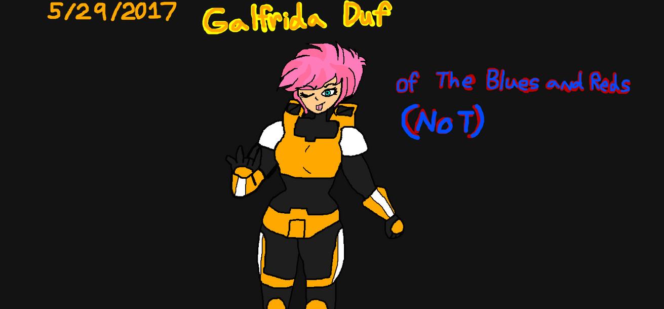 Red vs Blue OC: Private Galfrida Duf by Elzathehedgehog