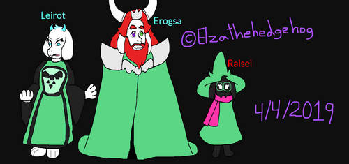 Deltarune: Ralsei With Erogsa And Leirot