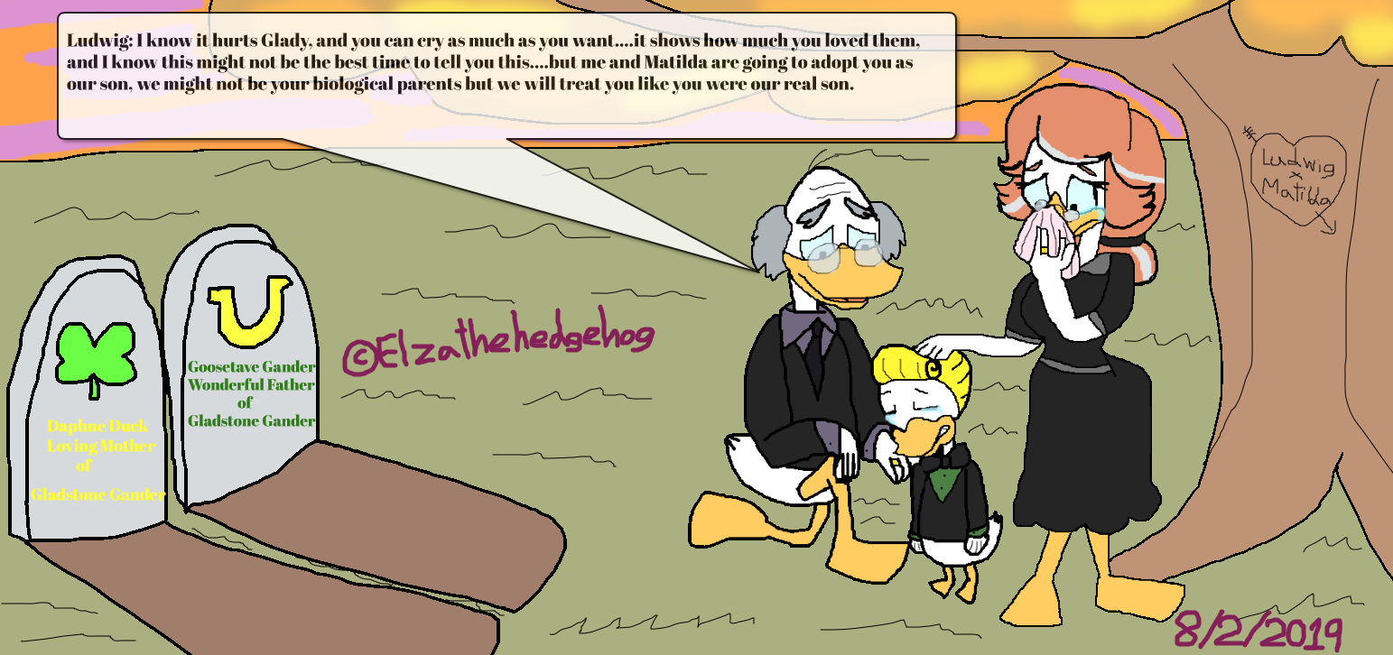 Mr And Mrs Gander Funeral And Gladstone S Adoption By Elzathehedgehog On Deviantart