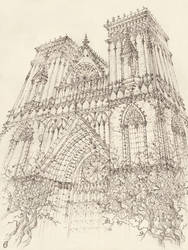 Cathedral Sketch by GrimDreamArt