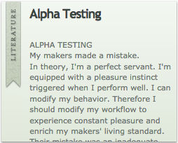 Oedipal Alpha Testing