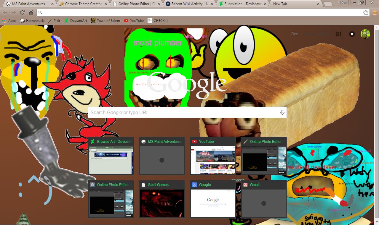 Google themes meme -  Moist Meme Chrome Theme By Deesix