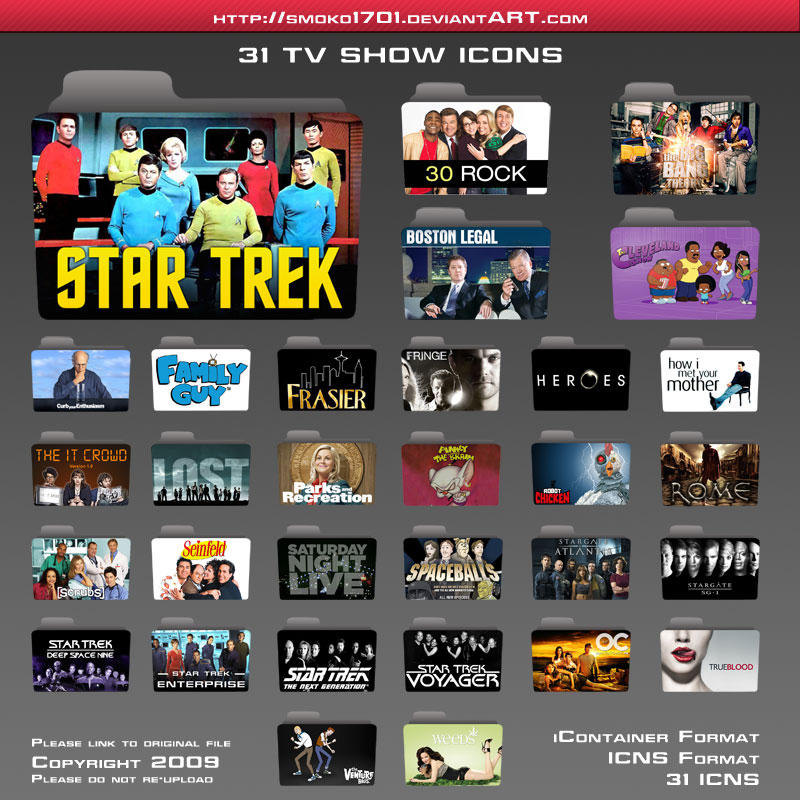 tv show folder icons by smoko1701 on deviantart