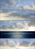 Autumn Sun Skies: Stock Pack by StockSaphitri