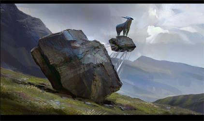 Goat On The Rock Gif by Javoraj