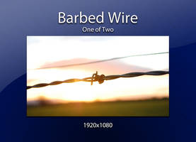 Barbed Wire upon a Sunset by htmlcheeta