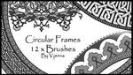 circular frames brushes
