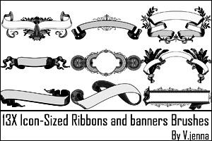 icon sized ribbons brushes by visualjenna