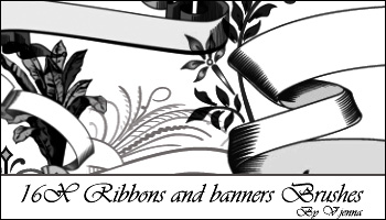 Ribbons and banners brushes by visualjenna
