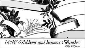 Ribbons and banners brushes
