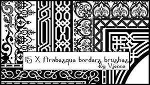 Arabesque borders brushes