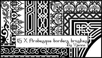 Arabesque borders brushes by visualjenna