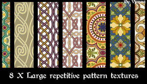 8Xrepetitive pattern textures