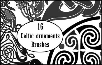 celtic ornaments brushes by visualjenna
