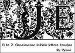 Renaissance letters brushes