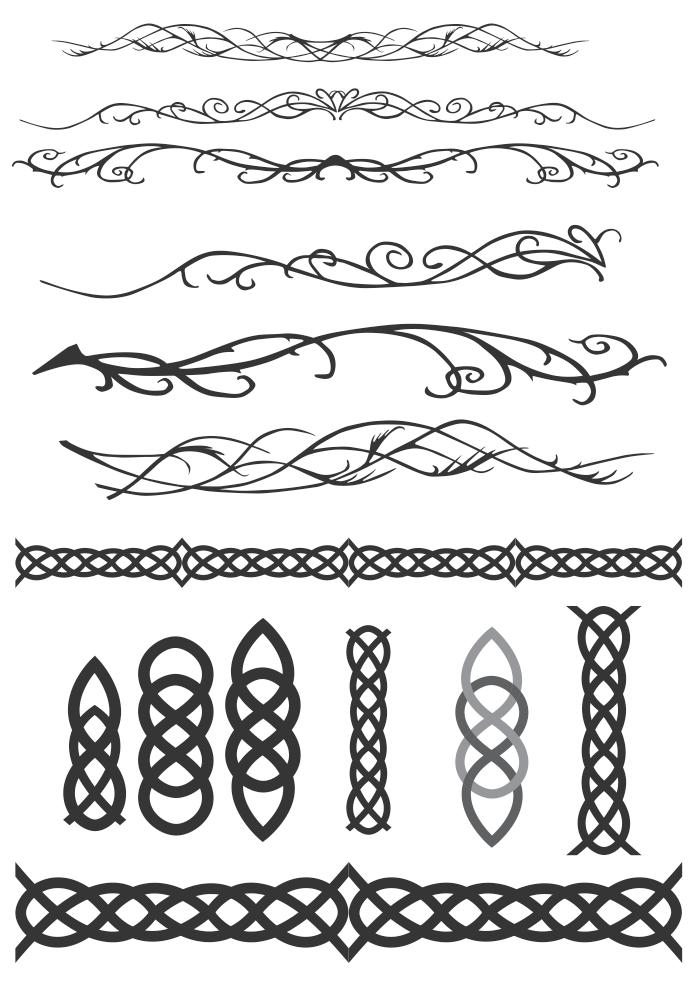Elvish Celtic Decoration Flourish Vectors by Dario1crisafulli