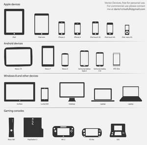 tech devices vectors