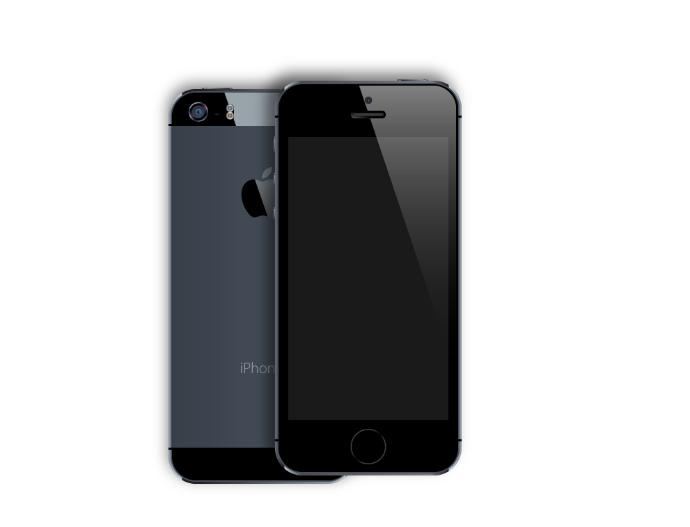 iPhone 5S vector by Dario1crisafulli