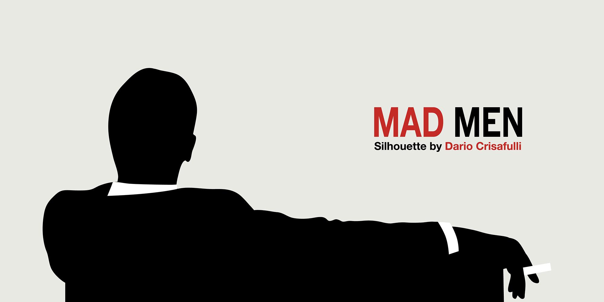 Mad Men Silhouette Vector