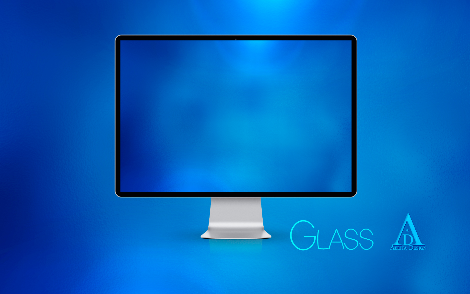 Blue Glass Wallpaper by aeli9
