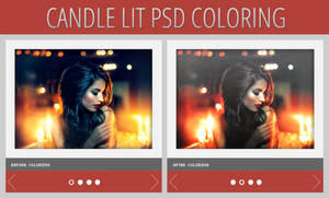 Candle Lit PSD Coloring