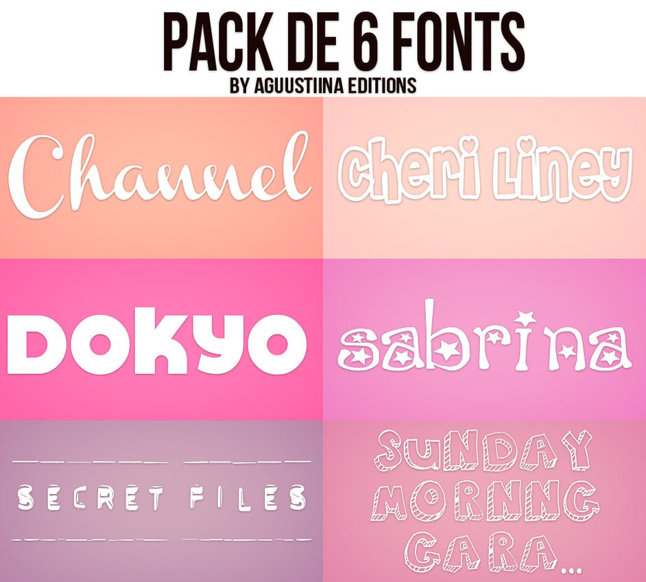 Download Pack de fonts #02 by AguustiinaEditions on deviantART