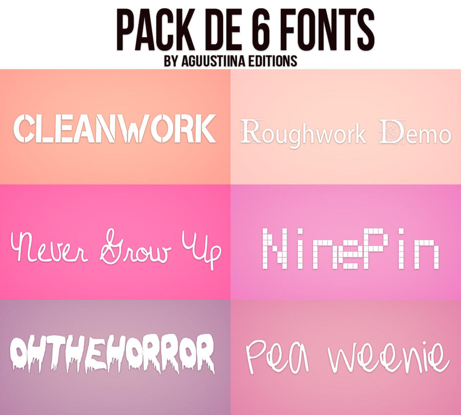 Pack de fonts #03 by AguustiinaEditions