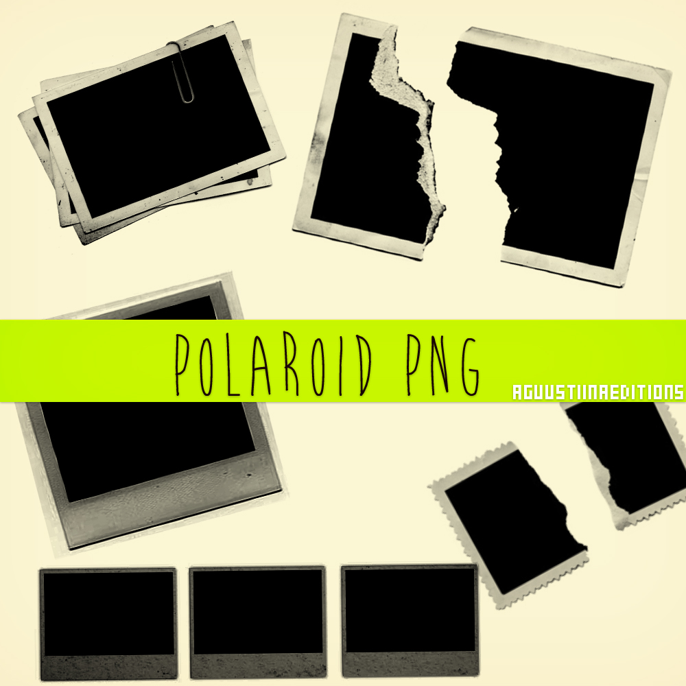 polaroid collage template
