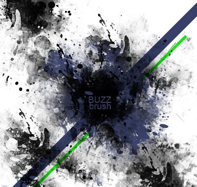 Grunge-Splatterish brushes by xBuZzx