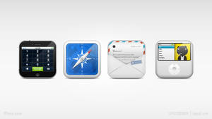 iPhone dock icon set