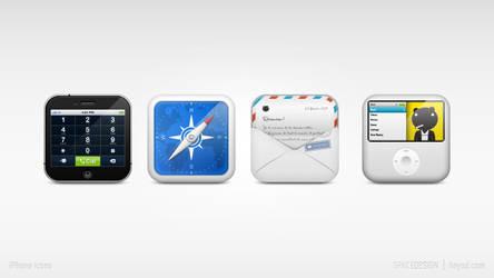 iPhone dock icon set by hehedavid