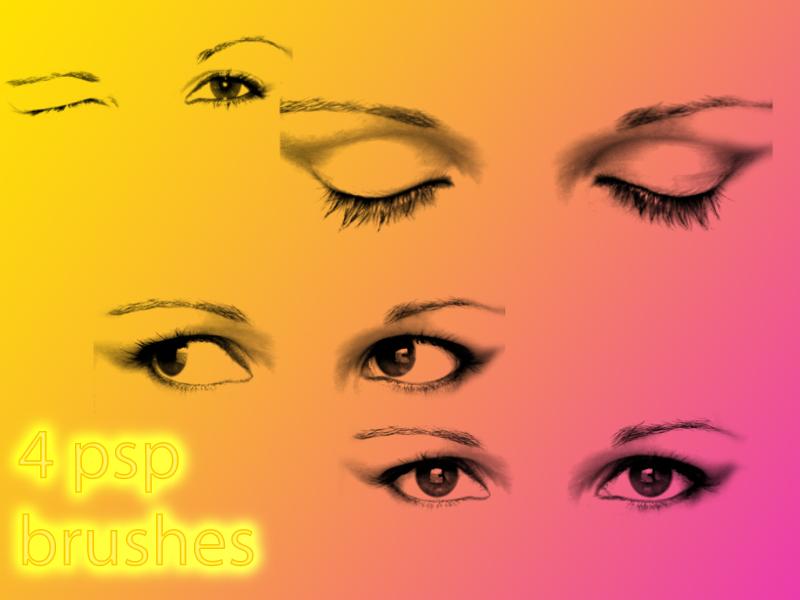 4 eye brushes for psp